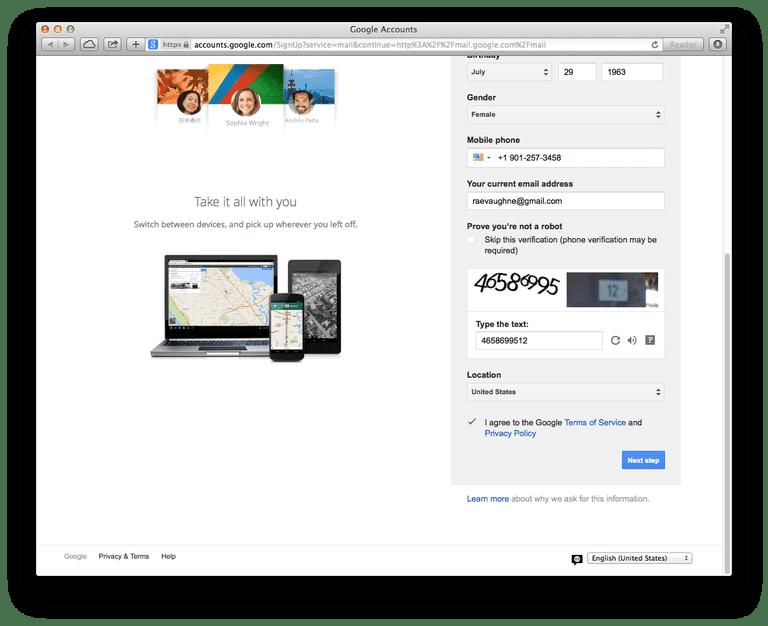Google Terms of Service və Gizlilik Siyasətini təsdiqlədiyimdən əmin olun.